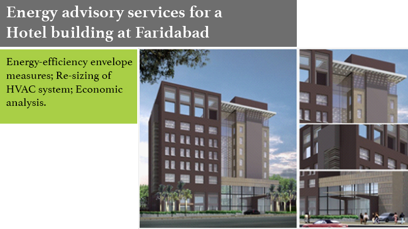 Energy advisory services for a Hotel building at Faridabad