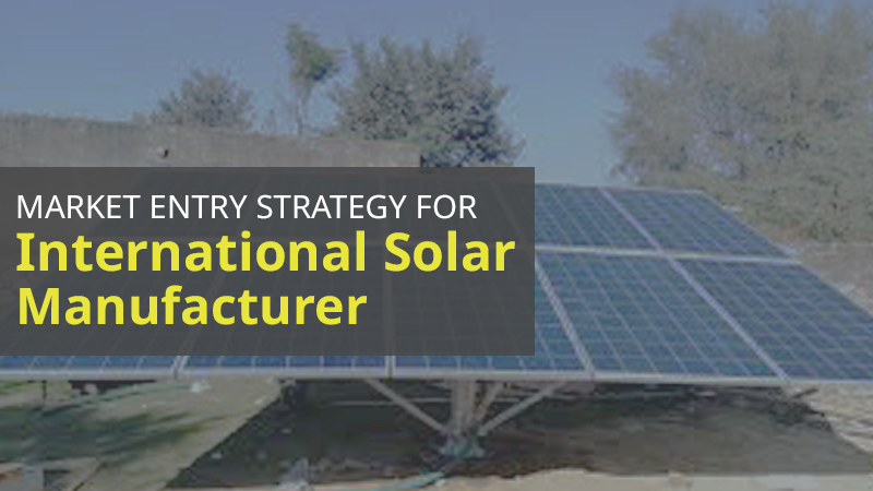 Market entry strategy for international solar manufacturer